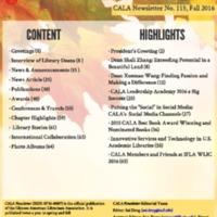 CALA Newsletter, No. 115, Fall 2016