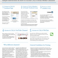 Simple Instruction on How to Access the CALA Social Media Channels