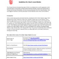 Guidelines for CALA's Social Media