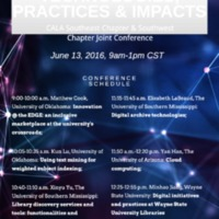 New Library Technologies, Practices, and Impacts: CALA Southeast Chapter and Southwest Chapter Joint Conference