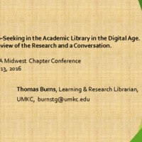 Help-seeking in the academic library in the digital age: a review of the research and a conversation
