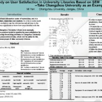 Study on User Satisfaction in University Libraries Based on SEM -- Take Changzhou University as an Example